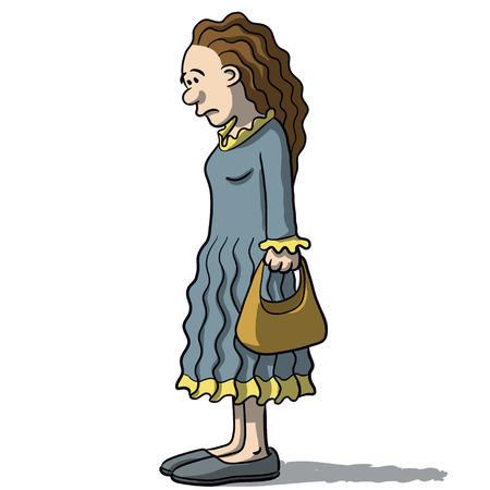 upset woman: cartoon women sad and depressed Illustration