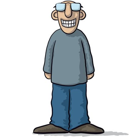 fake smile: a character with a fake smile Illustration
