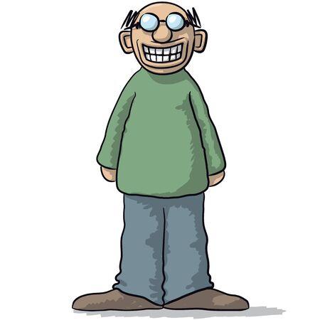 un personaje con una sonrisa falsa