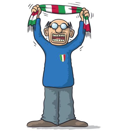 soccer fan: soccer fan Italy