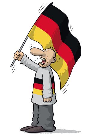 supporter: Germany soccer supporter Illustration