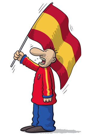 weep: Spain soccer supporter