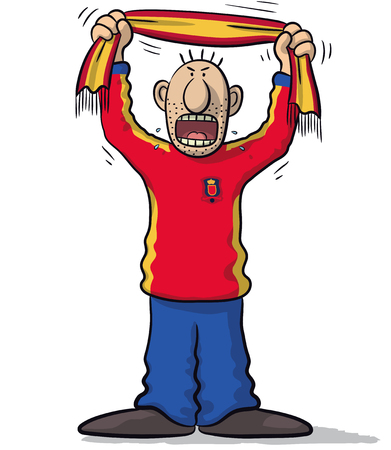 supporter: Spain soccer supporter