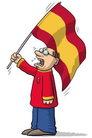supporter: Spain soccer supporter