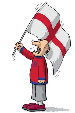 supporter: England soccer supporter Illustration