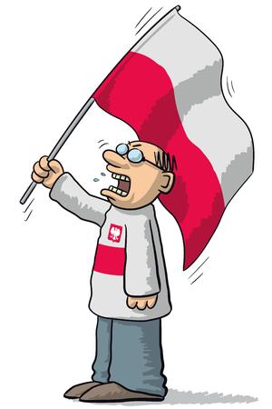 poland: Poland soccer supporter