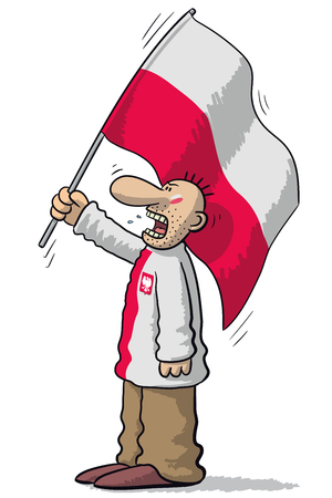 weep: Poland soccer supporter