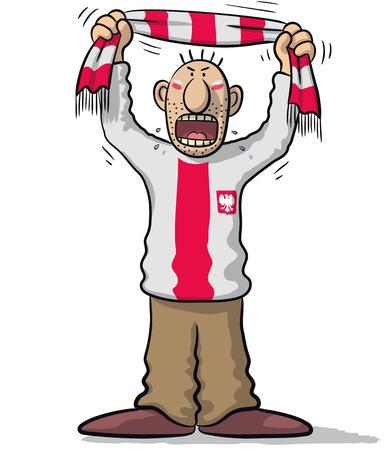supporter: Poland soccer supporter