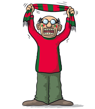 supporter: Portugal soccer supporter Illustration