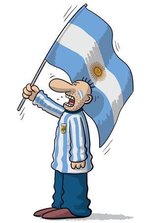 supporter: Argentina soccer supporter Illustration
