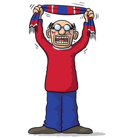 supporter: Chile soccer supporter Illustration