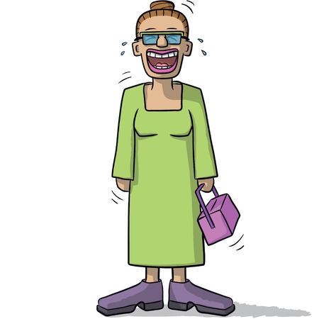 character cartoon: a female character with funny smile