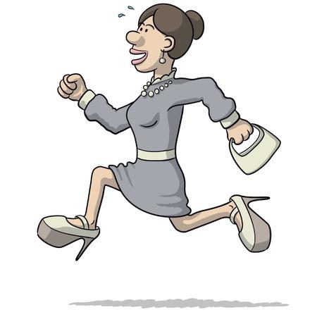 ilustración de una mujer que se ejecuta Ilustración de vector