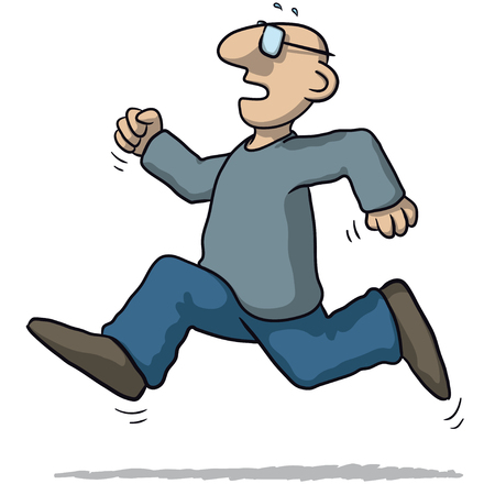 flee: illustration of a man running