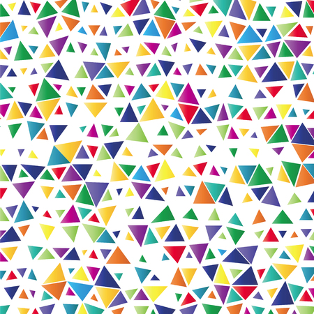 psychedelia: background with colored triangles Illustration