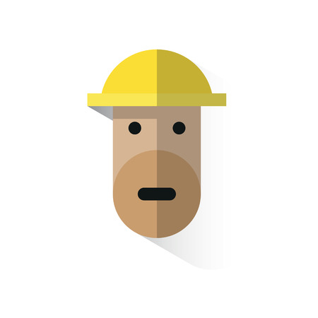 jobs people: workers face icon with helmet