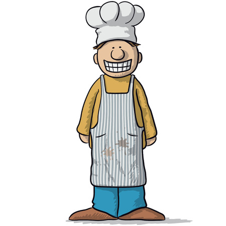 eating lunch: smiling chef