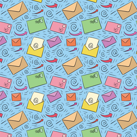 transmit: Colored seamless email pattern Illustration
