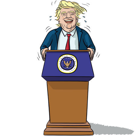 president's: US President Trump Illustration