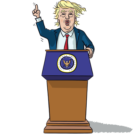donald: US President Trump Illustration