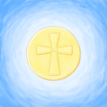 the christian religion: host eucharist Stock Photo