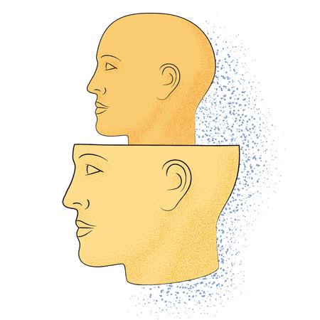 Dibujo simbólico del conocimiento de la filosofía Ilustración de vector