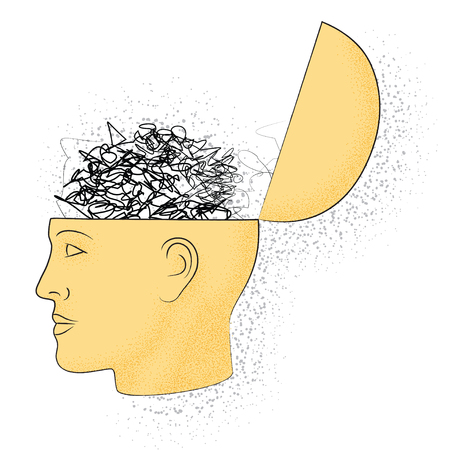 Symbolic drawing of the knowledge of philosophy Ilustração Vetorial
