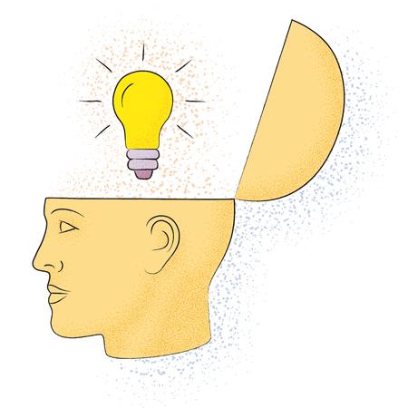 Symbolic drawing of the knowledge of philosophy Ilustración de vector