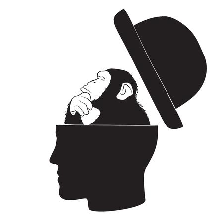 Symbolic drawing of the knowledge of philosophy Ilustração