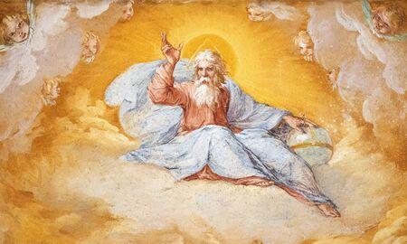 Église peinte de figure divine de San Sebastiano Rome Banque d'images