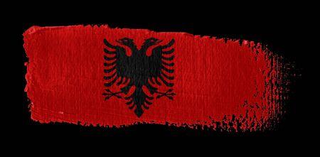 brush stroke on canvas Albania flag