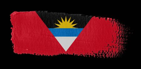 brush stroke on canvas Antigua e Barbuda flag