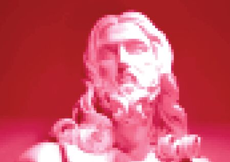The bust of the Savior, Salvator Mundi Stock fotó - 150098476