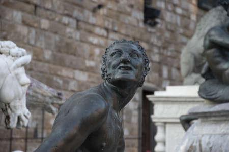 The Fountain of Neptune, in Piazza della Signoria in Florence