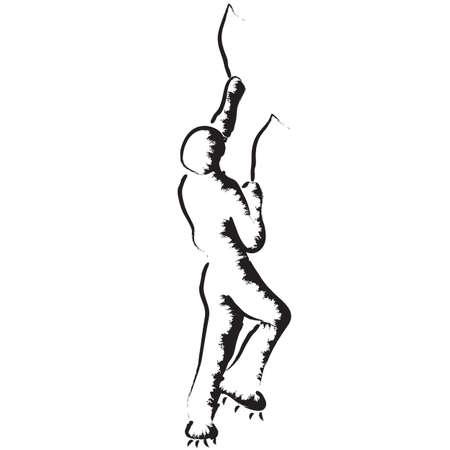 Ice climbing, climber stylized vector illustration Ilustração