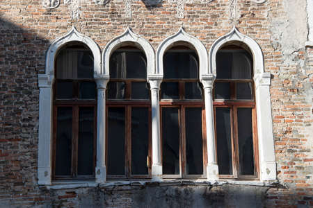 Building facade in the city of Venice, Italy, Europe