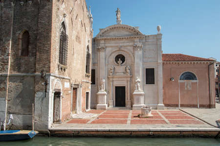 The church of the Abbey of Misericordia, city of Venice, Italy, Europe