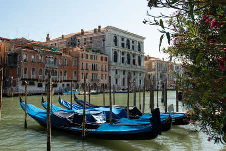 The gondola, typical boat of the city of Venice, Italy, Europe.