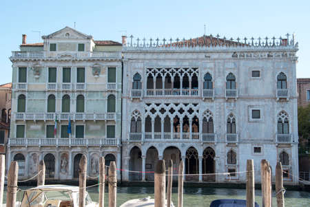 Ca 'd'Oro, Building on the Grand Canal, city of Venice, Italy, Europe