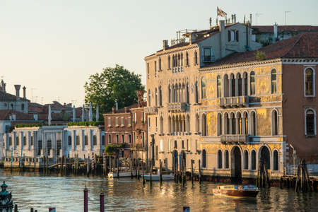 Building on the Grand Canal, city of Venice, Italy, Europe
