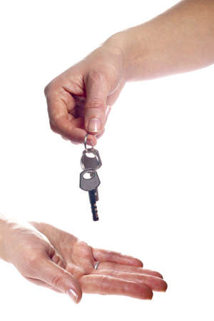 Key in woman hand photo