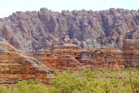 western australia: Beautiful outback landscape of bee-hive shaped rock formations in Bungle Bungles or Purnululu National Park in Western Australia Stock Photo