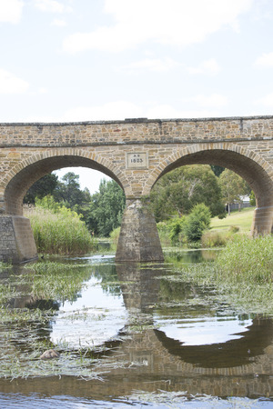 convict: Historic Stone Bridge in Richmond, Tasmania, oldest convict built construction of its kind in Australia