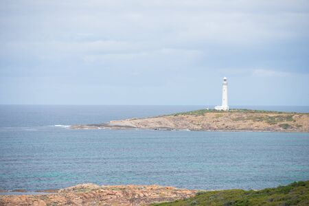 leading light: Cape Leeuwin Lighthouse at southwest end of Australian continent, near Augusta, Western Australia, where Southern and Indian Ocean meet.