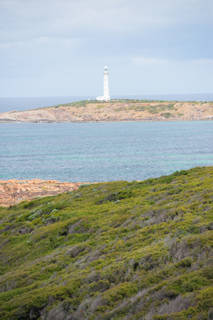 southern indian: Coast at Cape Leeuwin Lighthouse, southwest end of Australian continent, near Augusta, Western Australia, where Southern and Indian Ocean meet.