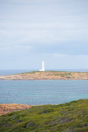 southern indian: Coast at Cape Leeuwin Lighthouse, near Augusta, Western Australia, where Southern and Indian Ocean meet.