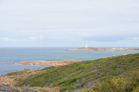southern indian: Coastline at Cape Leeuwin Lighthouse, near Augusta, Western Australia, where Southern and Indian Ocean meet.