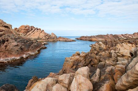 western australia: Beautiful nature scenery of rugged coast at Canal Rocks, Margaret River, Western Australia, summer sunny blue sky, copy space.