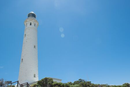 southern indian: Scenic sun flare at Cape Leeuwin Lighthouse, near Augusta, Western Australia, where Southern and Indian Ocean meet.