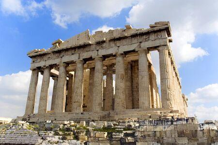 The Ancient Parthenon, Athens, Greece, blue sky